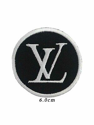 Embroidered LV LOGO sew ON badge iron on patch