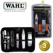 Wahl Travel Grooming Kit Trimmer Nose Ear Hair Nail Clipper & Pouch 9962-1417
