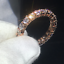 1-50Ct-Round-Cut-VVS1-D-Diamond-Full-Eternity-Wedding-Band-18K-Rose-Gold-Finish thumbnail 1