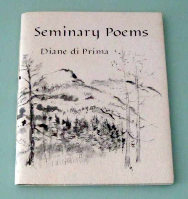 Signed DIANE DiPRIMA SEMINARY POEM 1991 LTD EDITION Hippie Beat Poet PSYCHEDELIC
