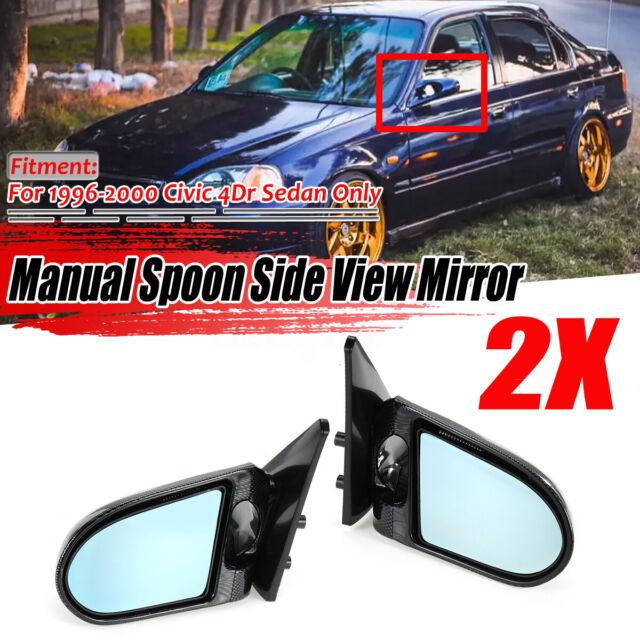 For 1996-2000 Honda Civic EK Real Carbon Fiber Spn Side Mirrors Manual Pair