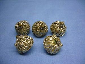 5 Stück alte schöne Trachtenknöpfe Silber/versilbert? Knöpfe Tracht (17)