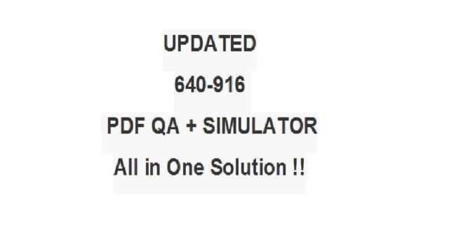 Cisco Data Center Technologies Ccna Dcict 640 916 Exam Qa Pdf