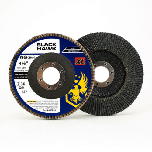 "10 Pack 4.5/"" x 7//8/"" XL 36 Grit High Density Flap Discs Jumbo Grinding Wheels T27"