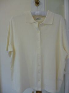 Marks Spencer cream stretch soft cotton top  BNWT size 20