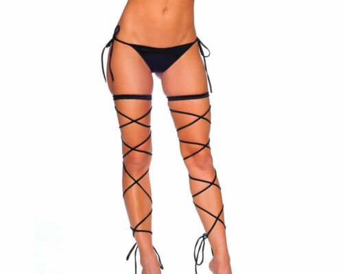 Made in the USA. BodyZone Garter Set with Spaghetti Straps One Size 1040SL