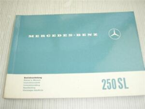 Mercedes-Benz-250-SL-Pagode-W113-Betriebsanleitung-Owners-Manual-1967