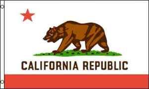 CALIFORNIA 3x5ft Flag Polyester United States America USA US patriotic CA
