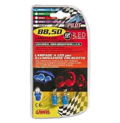 T5 D//Blister 12V Kit Lampade cruscotto 1 Led - LAMPA 5 pz Bianco - W2x4,6d