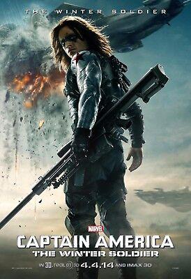 Winter Soldier Marvel Cartel 03 Poster A3 Capitan America Soldado De Invierno