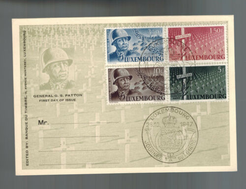1947 Luxembourg First Day Postcard Cover USA General George S. Patton # 242245