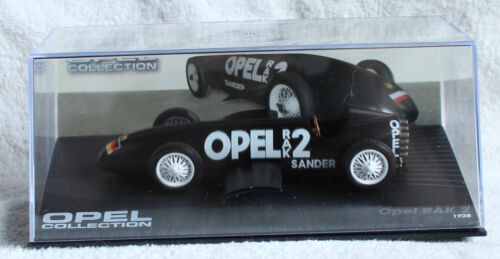 Die-cast Opel RAK 2 1928 schwarz 1:43 Ixo//Altaya Modellauto