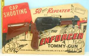 Vintage-1950-039-s-Toy-Louis-Marx-The-Enforcer-Tommy-Gun-50-Shot-Repeater-USA