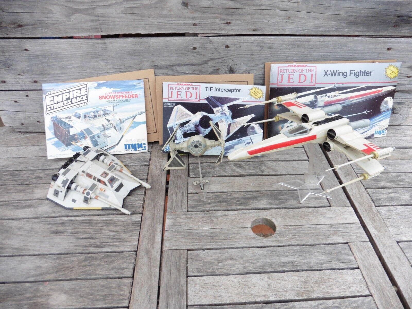 3 Stück Modelbausätze Star Wars Mpc Ertl