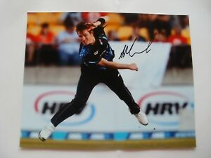 SIGNED-10-034-X8-034-PHOTO-ADAM-MILNE-KENT-NZ-CRICKET