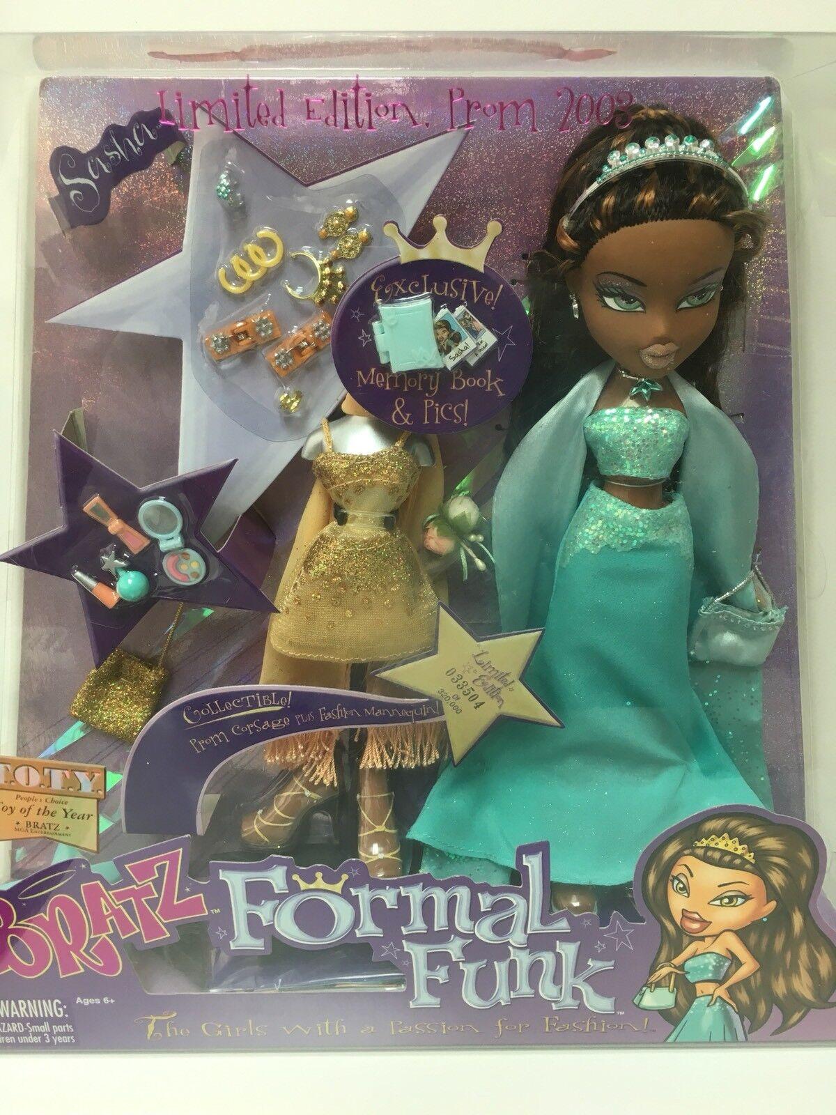 BRATZ-BRATZ SASHA Formale funk RARE-Limited Edition Doll da 2003 33504 32000