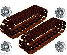 50 Lego DARK BROWN Tread Links  + 4 Sprockets  (technic,robot,tank,steam,pu