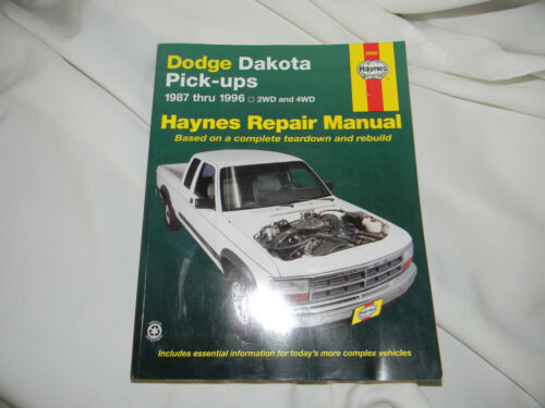 haynes dodge dakota pickups repair manual 1987 1996 2wd and 4wd