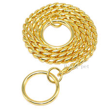Choke Chain Dog Collars Snake P Choker Pet Show Collar Heavy for Training 9 Size