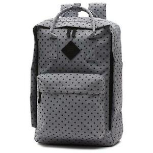 6972013f41ba Vans Off The Wall Icono Square Gray Polka Dot Laptop Backpack New ...