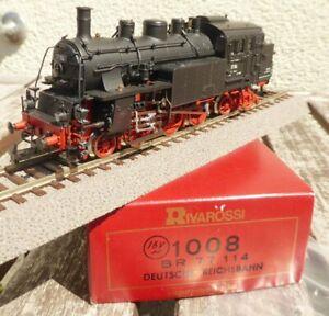 Rivarossi-1008-h0-ac-maquina-de-vapor-br-77-114-de-la-DRG-epoca-2-muy-bien-conservados-inovp