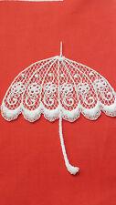 White, Guipure Lace,Applique,Trimmings,Wedding- Umbrella  Motifs - 12 x 11cm
