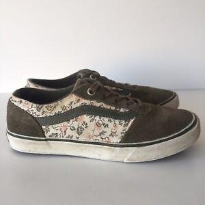 Vans Green Floral Old Skool Size 3