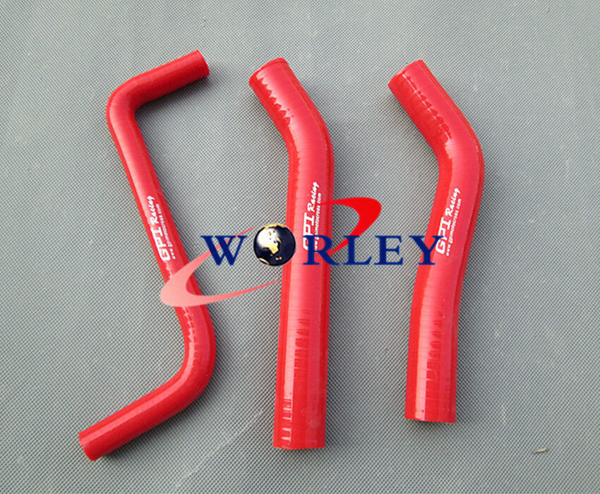 RED HPS SILICONE RADIATOR HOSE KIT W// CLAMPS FOR 09-13 GT-R GTR R35