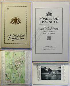 Orig-Prospekt-Koenigl-Bad-Kissingen-1912-Kurort-Bayern-Ortskunde-Landeskunde-xy