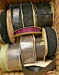 Vintage-WFR-Fabric-Ribbon-Lot-2-Pounds-of-Fabric-Ribbon-Moire-Satin-18