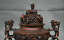 8-8-034-Marked-Old-China-Qing-Red-Copper-Dynasty-Dragon-Beast-Incense-Burner-Censer thumbnail 2