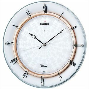 Seiko Wall Clock Disney Mickey Mouse Analog Radio Wave