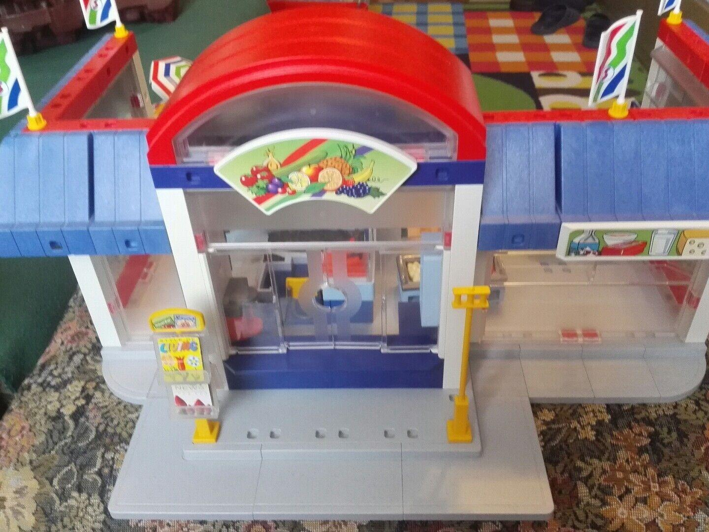 Supermarkt Supermarkt Supermarkt von Playmobil mit Gemüse- Metzger- Brot- Eisstände  und mehr 821c47