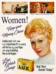 Details about Lux (Mimsy) Humorous Ad Poster - Adults Fun - clean pussy