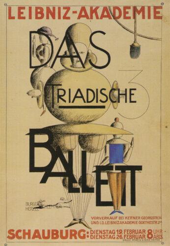 Kunstkarte Oskar Schlemmer Postcard Art   Bauhaus Leibniz-Akademie