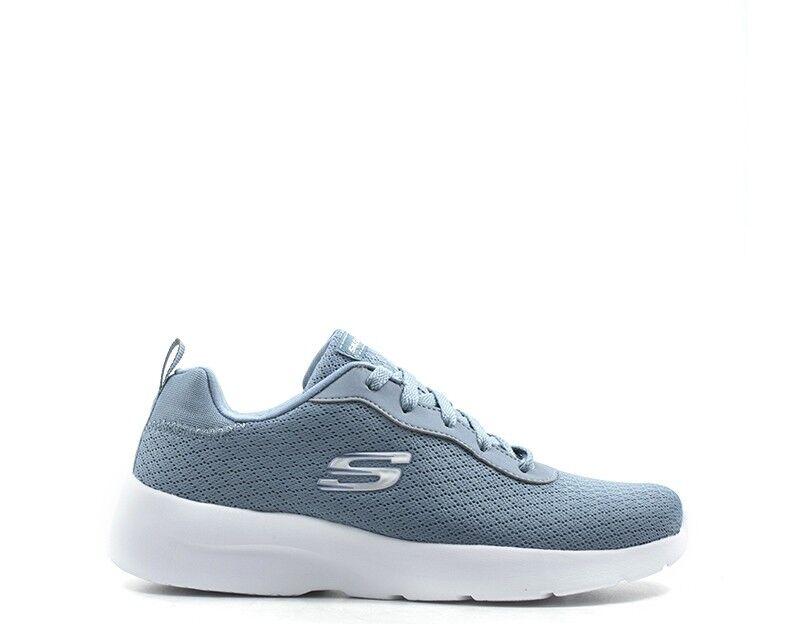 shoes SKECHERS SPORT Woman Sneakers AZZURRO Fabric 12964-SLT