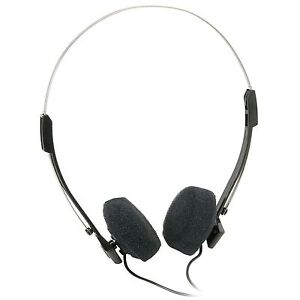 Mini-Stereo-Lightweight-Design-Headphones-with-4-ft-Cord-240-015-New