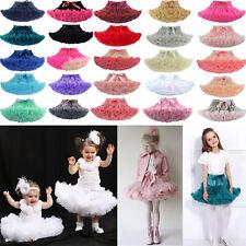 Baby Girl Fluffy Ballet Tutu Princess Party Skirt Dancewear Kids Fancy Costume