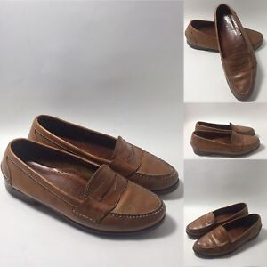 8fc51f4b5a VINTAGE COLE HAAN Men's Pinch Brown Leather Penny Loafers Dress ...