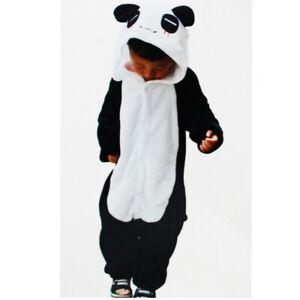 migliori scarpe da ginnastica 3ab5d fc978 Dettagli su Tuta Pigiama Costume Onesie Carnevale Halloween Unisex Bimbo  Bimba Panda