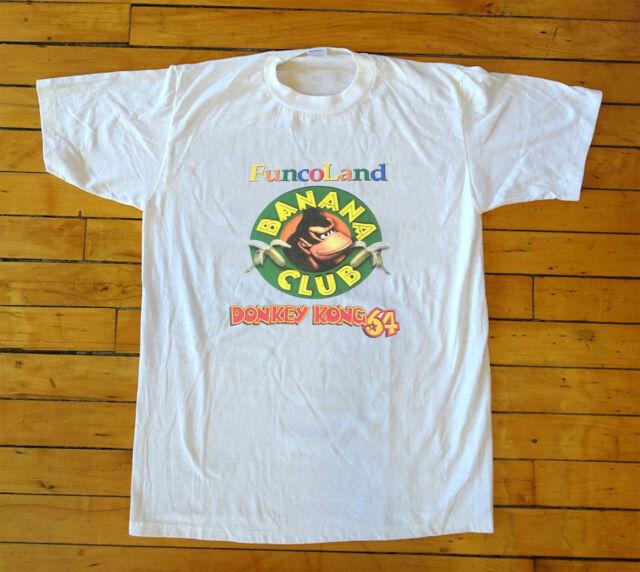 Rare Funcoland Donkey Kong 64 Banana Club Printed Shirt Nintendo 64 N64 Vintage Ebay