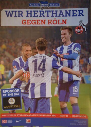 FC Köln Stadionmagazin 2014//15 Hertha BSC Berlin 1