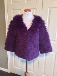 Coat S Nwt m Genuine Rabbit Fur Size Genuine gYxIPqxH