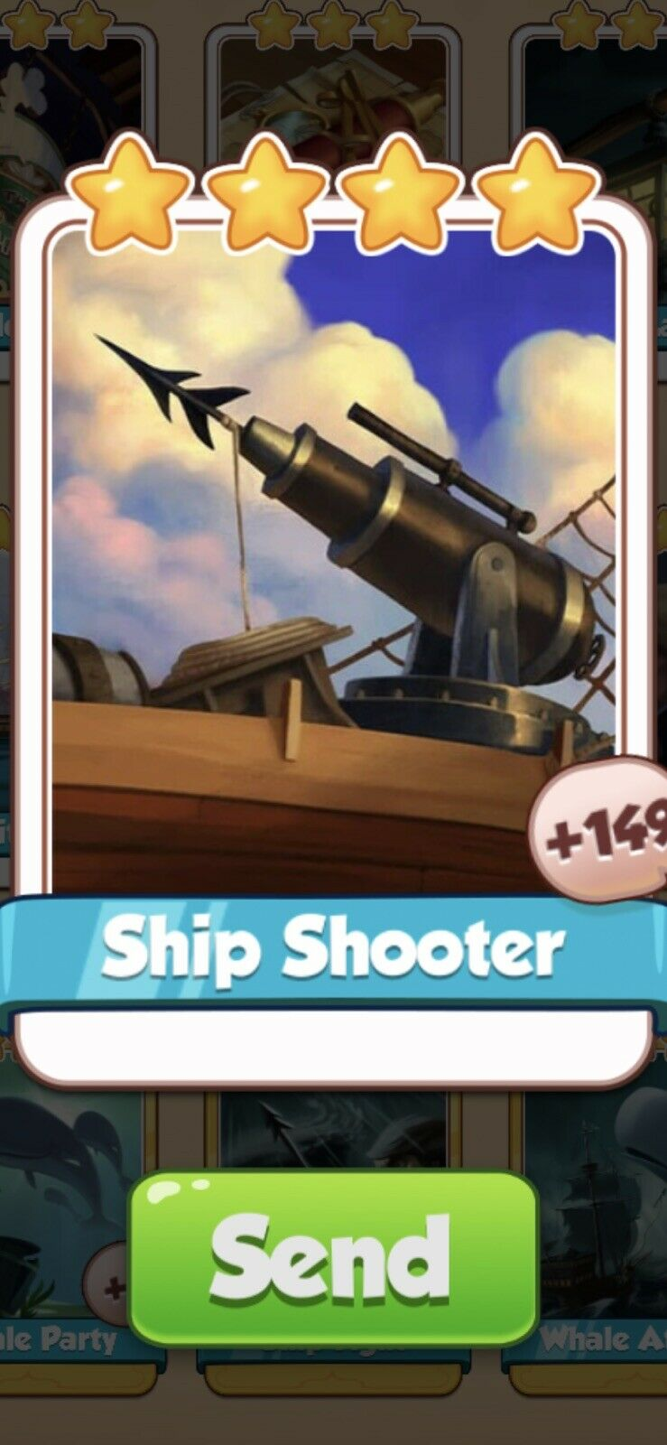 X 1 Ship Shooter Cards from Moby Dick Set Coin Master Card ( Fast Send )