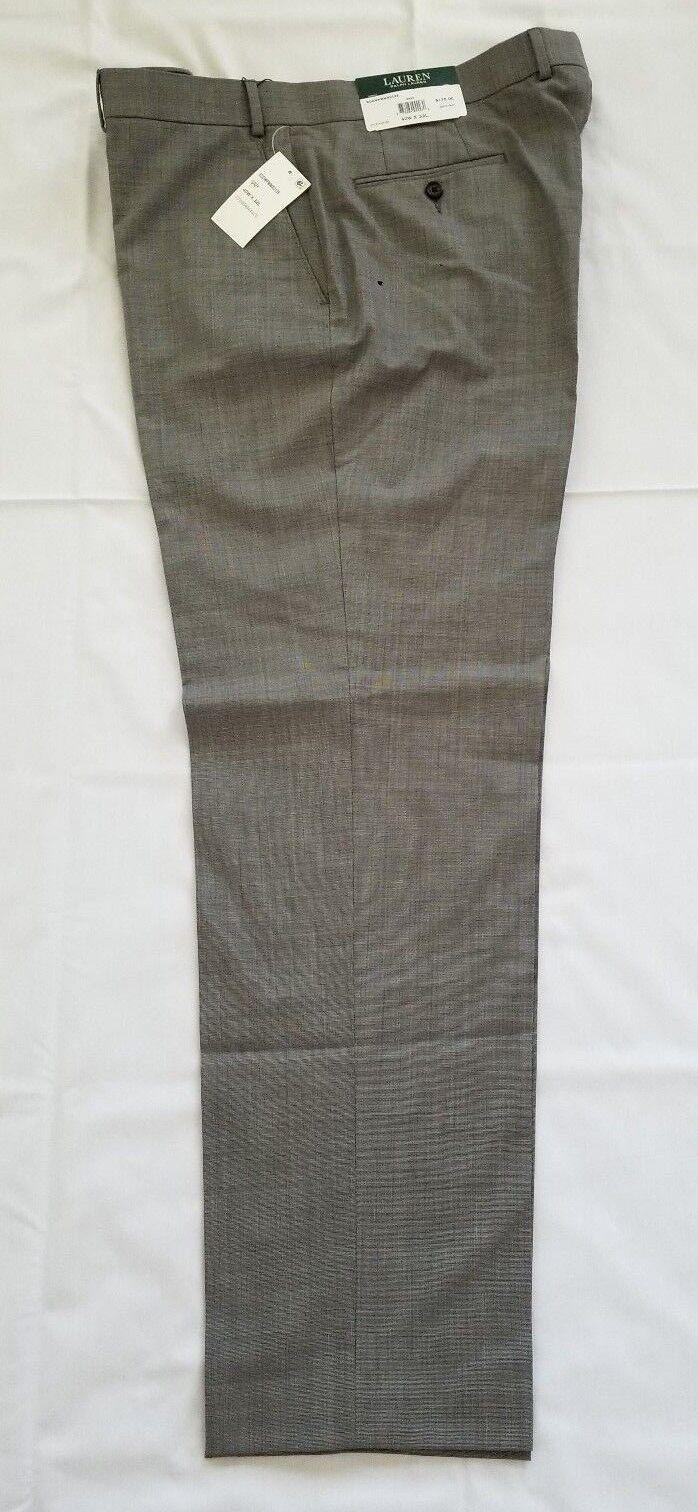 Mens Size 40W X 32L Grey Ralph Lauren Ultraflex 100% Wool Dress Pants