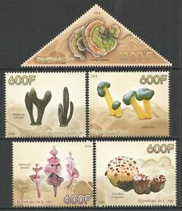 C1174 2014 CONGO MUSHROOMS CHAMPIGNONS NATURE FLORA 1SET MNH