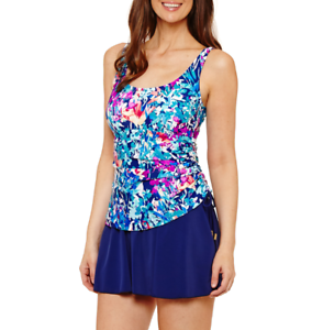 10 16 Azul by Maxine of Hollywood Floral Swim Dress Size 8 18  $99 14