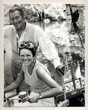 candid REX HARRISON & RACHEL ROBERTS actress wife VINTAGE PHOTO Dr. Dolittle