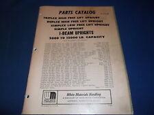 White High Free Lift Triplex I Beam Mast 2k 12k Forklift Parts Book Manual