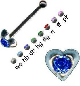 Süß... Herz Sterling Silber 925 Nasenstecker Piercing Nasenpiercing neu Geschenk